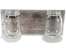 Porta Fiori Mensola bagno da muro con 2 barattoli in vetro - DIY vintage shabby