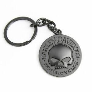 Harley Davidson Willie G Skull Totenkopf Schwarz Matt Anhänger Schlüsselanhänger