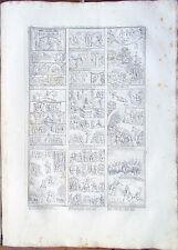 ✅ Stampa incisione 1850s Una parte della Bibbia di San Paolo al quarto TAV.XLI