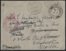 UK GB EGYPT MOASCAR PO 1934 MILITARY PO & POSTAGE PREPAID IN RED VIA SOUTHAMPTON