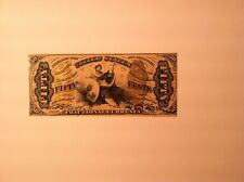Fr 1343 Justice 50 cent Unc Fractional Currency Note