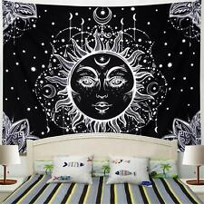 Nice! Sun and Moon Black and White Tapestry 51 X 59 Inches