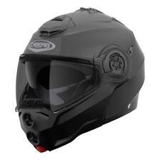 Casco modulare apribile moto Caberg Droid nero opaco black matt taglia L