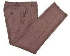 Dirk Bikkemsbergs Made In Italy Brown Diagonal Twill Wool Cotton Pants 36 x 33.5