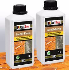 NATUR Holzschutz LEINÖL- FIRNIS 2 L Holzöl Leinölfirnis Holz Möbel Lasur HQ