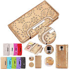 Bling REMOVABLE Detachable Wallet Magnetic Leather Flip Case Cover for Phones