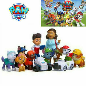 Kids Gift 12PCS Paw Patrol Dog Puppy Rescue Character Toys Figurines Cake Topper