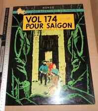 Rare ANCIEN Panneau Pastiche TINTIN Vol 174 pour Saigon (714 Sydney!!) Toile