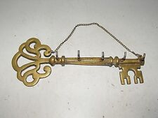 """Vintage Brass Wall Hanging Key With 5 Hooks In Good Vintage Condition """"L@@K"""""""