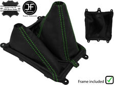 GREEN STITCH LEATHER MANUAL GEAR&HI LOW BOOT 4X4 + FRAME FOR MAZDA BT-50 06-11