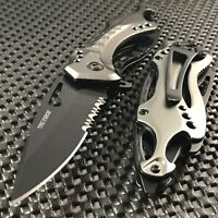 """8"""" TAC FORCE TACTICAL SPRING ASSISTED FOLDING KNIFE Blade Pocket Open Switch"""
