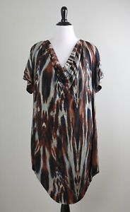 CALVIN KLEIN NWT $109 Slinky Stretch Draped Front Mesh Lined Dress Size 2X