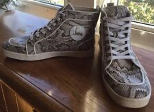 Men's CHRISTIAN LOUBOUTIN Python  Trainer Hightop Sneakers Euro 44