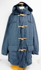 Vintage Mens Ralph Lauren Polo Jeans Co Cotton Hooded Duffle Coat XL Blue