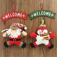 Christmas Tree Door Hanging Santa Claus Snowman Pendant Ornament Xmas Decor Gift