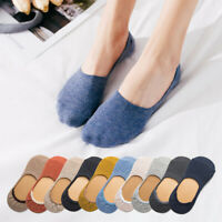 Breathable Ankle Boat Socks Invisible Women Cotton Non-slip Low Sock Free Size