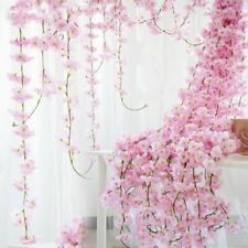 Wedding Arch Lvy Flower Cherry Rattan Artificial Silk Sakura Blossom Vine