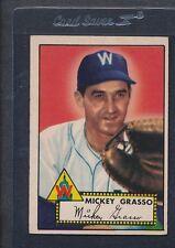 1952 Topps #090 Mickey Grasso Senators VG *417