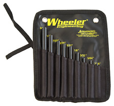 Wheeler Roll Pin Starter Punch Set Steel Rifle Firearm Gunsmith Tools Kit
