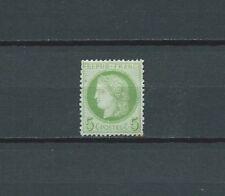 FRANCE - 1872 YT 53 - 5 c. vert - TIMBRE NEUF* charnière / gomme d' origine