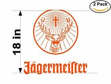 jagermeister 2 Stickers 18 Inches Sticker Decal