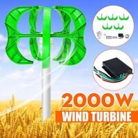 2000W DC 12/24/48V 5 Blades Wind Turbines Generator Vertical Charge