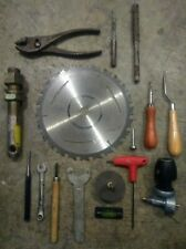 16 Various Hand Tools Including Drill Bits, Pliers, Wrenche, gas valve, nail set