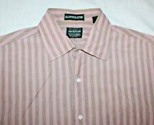 Gitman Brothers For Nordstrom 15.5 34 Pink Brown Striped Cotton Dress Shirt Mens