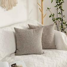 Kevin Textile Pillow Cover Faux Linen Toss Soft Throw Cushion Case for Couch .