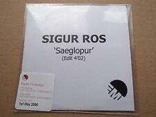 SIGUR ROS - SAEGLOPUR - VERY RARE 1 TRACK EMI PROMO CD