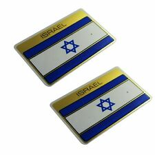 ISRAEL National Flag Sticker Emblem Set Golden Self adhesive Water Proof