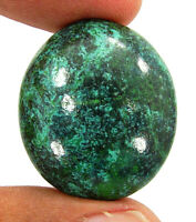 35.00 Ct Natural Tibetian Turquoise Loose Gemstone Cabochon Wire Wrap - ZS6608