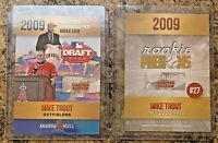 Mike Trout 2009 MLB Draft Limited Edition Rookie Card Anaheim Angels. Error Card