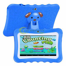 """Kids Blue 7"""" Tablet PC 16GB Android Wifi Quad Core Educational Apps Best Gift"""