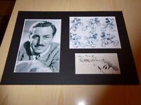 Walt Disney & Mickey Mouse mounted photographs & autograph card