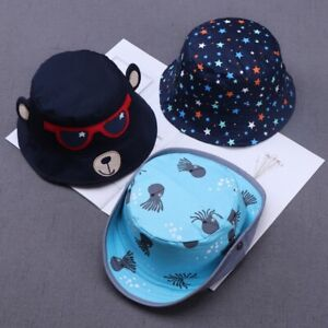 Kids Baby Sun Hat Boys Girls Toddler Bucket Hats Outdoor Adjustable Beach Cap