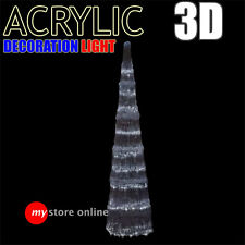 Ice Cool Acrylic 3D Light House Tower LED Outdoor Christmas Decoration Ornament