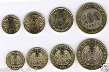 KAZAKHSTAN:  Set of 4 regular coins with bi-metallic 100 tenge *date 2004*UNC