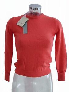 Maglia donna EAST Woman tg 40 Corallo 100% Cashmere Made in Italy Jumper
