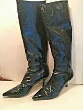 MICHAEL KORS Black Patent Marabelle High Boots, Size 7.5 M, Orig. $249.00