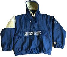 LG Mens Vintage Starter Notre Dame Jacket Half Zip Pullover Puffy Coat