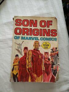 1975 Son Of Origins Of Marvel Comics By Stan Lee Book