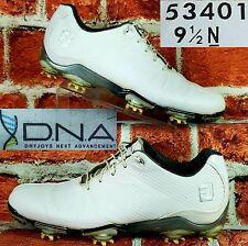 Footjoy DNA Men Golf Shoes Sz 9.5 Narrow White Dryjoys Next Advancement 53401 FJ