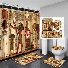 Ancient Egypt Bathroom Shower Curtain Bath Curtains Rugs Toilet Seat Cover Set