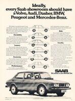 1975 1976 SAAB 99 Original Advertisement Print Art Car Ad PE69