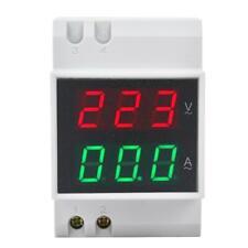 Digital Voltage Ampere Meter Din Rail Double Display Voltmeter Ammeter Ac80 300v