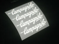 4 x CAMPAGNOLO REFLECTIVE Cycling Stickers Graphics Colours Bike Frame Forks