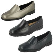 Ladies Clarks Georgia Flat Loafer Style Shoes