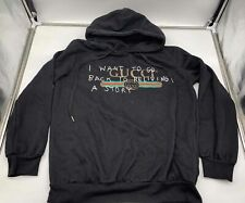 """New listing Men's Gucci """"I Want To Go Back"""" Black Hoodie - size 3X Large"""