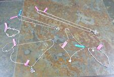 Lot Of 925 Silver Necklace Pendant Bracelet Jewelry